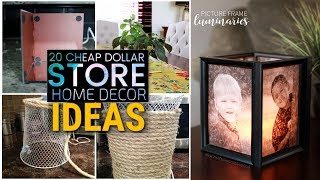 20 Cheap  DIY dollar store decor ideas