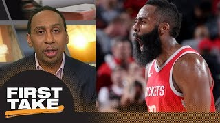 Stephen A.: James Harden is 'head and shoulders above' LeBron James for MVP | First Take | ESPN