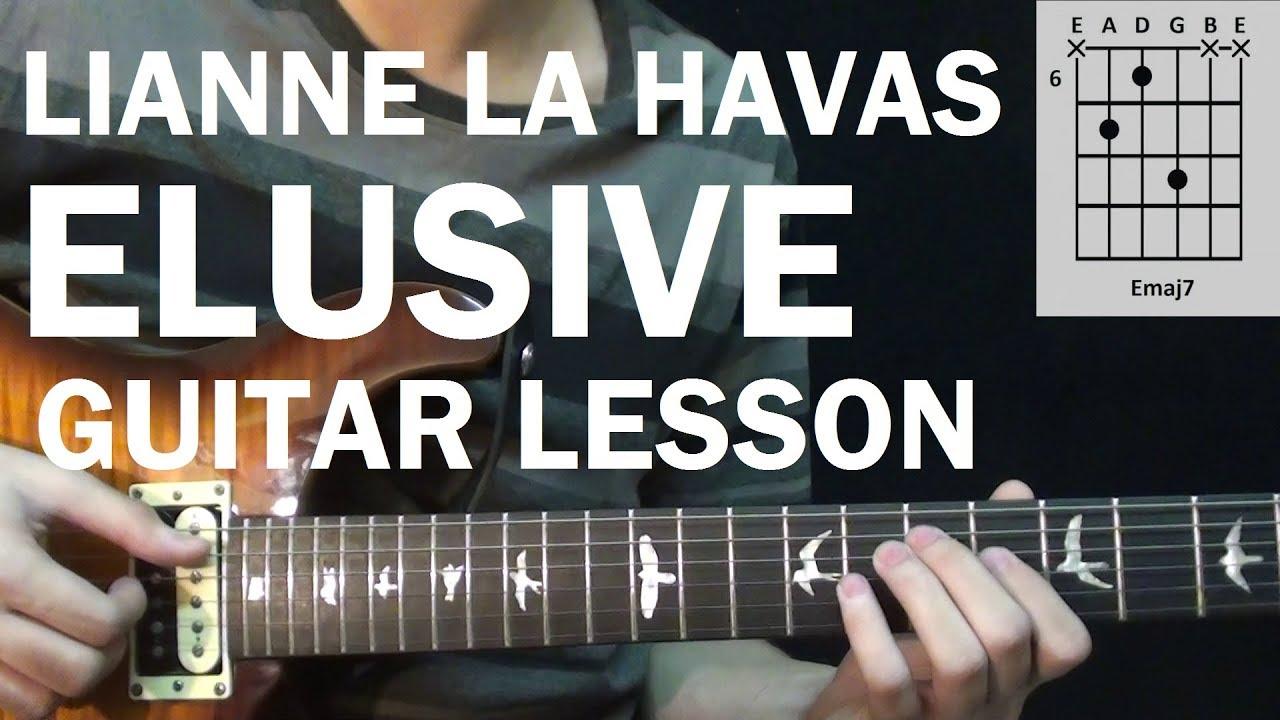 Lianne La Havas   Elusive   Guitar Lesson Tutorial How to Play