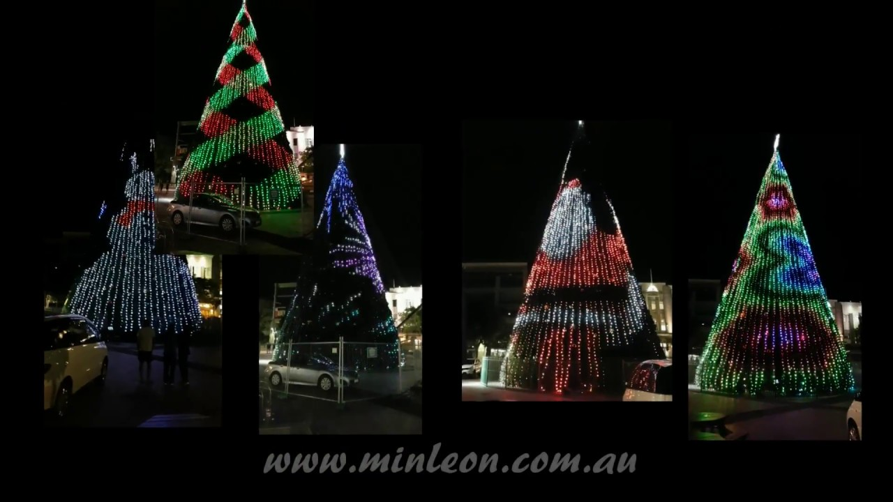 Minleon Australia & NZ Digital Tree Lighting - YouTube