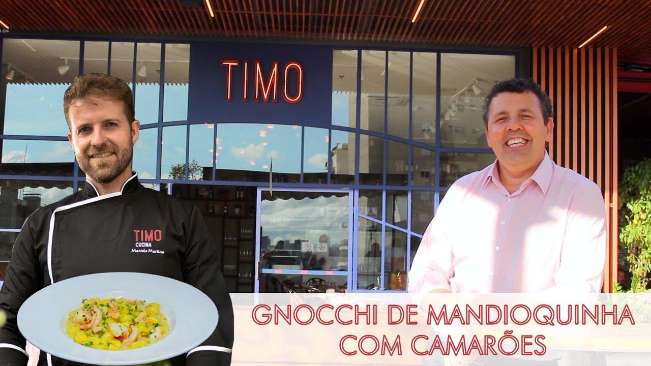 Gnocchi de Mandioquinha com Camarões - Timo Cucina | Dicas ...