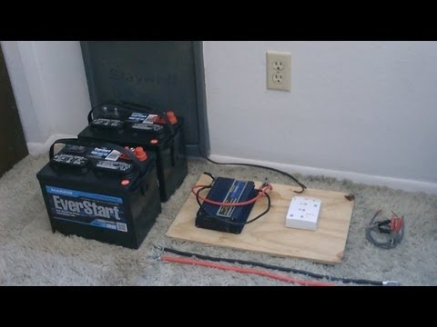 How to hook up Solar Panels (with battery bank) - simple 'de