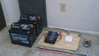 How to hook up Solar Panels (with battery bank) - simple