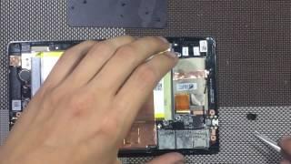 Asus ZenPad C 7.0 Z170C Wi-Fi как разобрать, замена дисплея с сенсорным экраном, с передней панелью