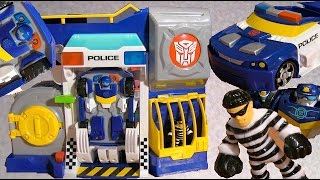 Chase Rescue Bots and Robbers Police Headquarters - Unbox and Review thumbnail
