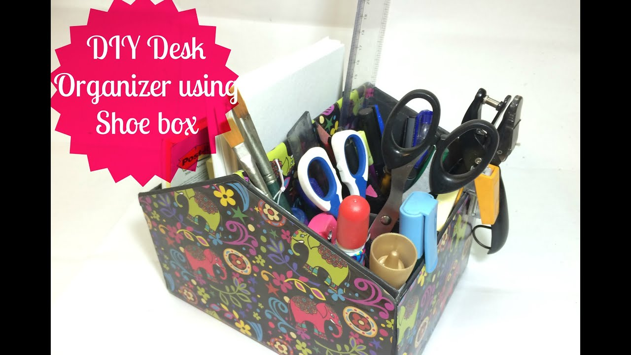 Diy Desk Organizer Diy Desk Organizer Makeup Organizer Youtube