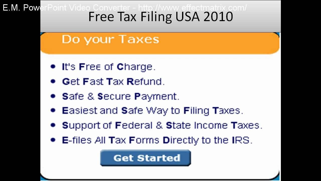 Free Tax Filing USA 2010, Free Tax Return Filing Online
