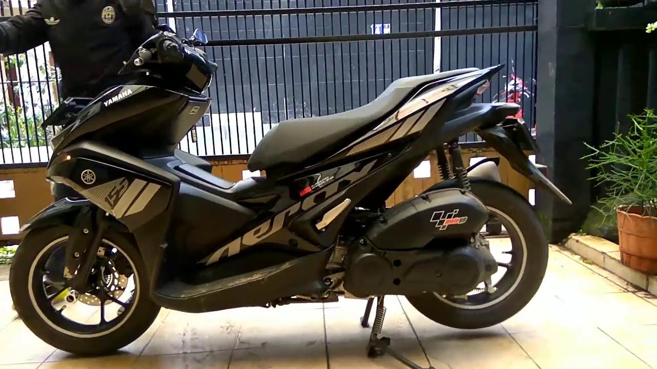 Download 70 Modifikasi Yamaha Aerox 155 Hitam Terbaik Dan