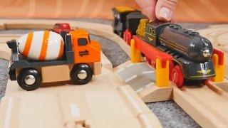 Spielzeug aus Holz - Züge und Fahrzeuge - Die Bahnschranke - Brio toys