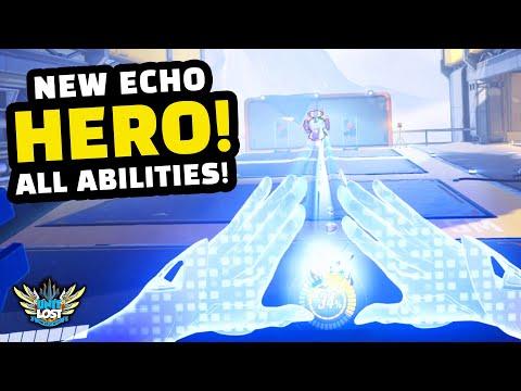 Overwatch - NEW Hero Echo Gameplay! - ALL Abilities Breakdown