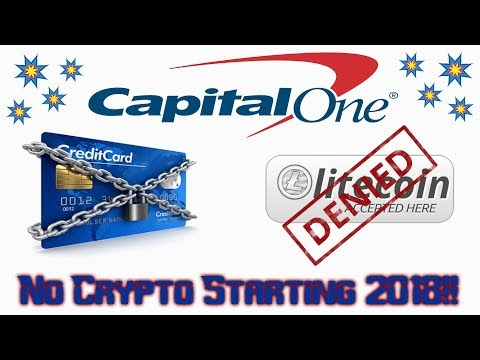 Capital One Bank Denying Crypto in 2018
