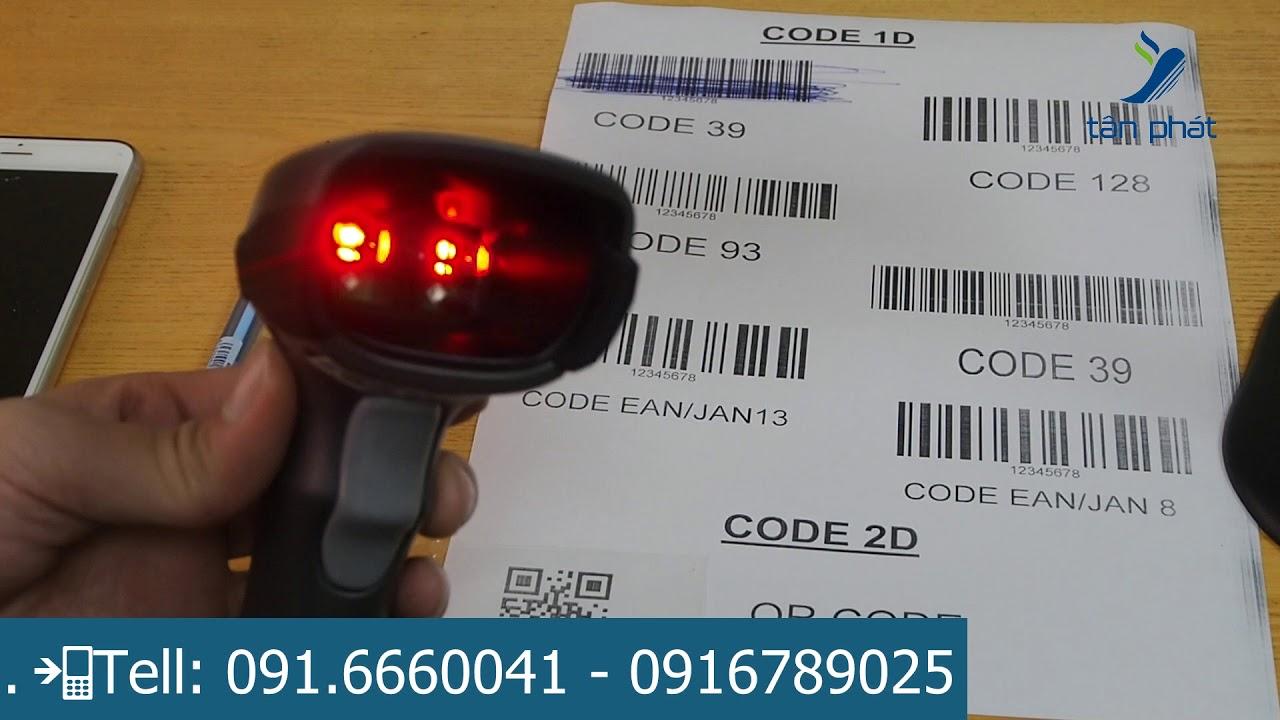 Máy đọc mã vạch 2D Zebra DS2208 | Máy đọc mã vạch 2D giá rẻ