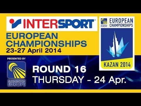R16 - MD - C.Langridge / P.Mills vs A.S.Rasmussen / K.A.Sorensen - 2014 INTERSPORT European C'ships