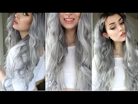 how to grey black hair dye with hair extension misshellman youtube