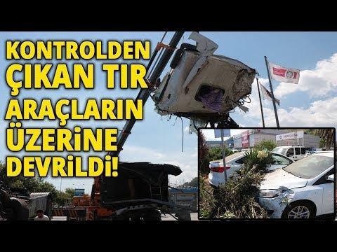 Samsun'da Trafik Kazası, Kontrolden Çıkan Tır Araçların Üzerine Devrildi!