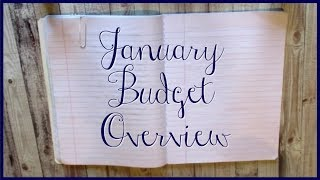 January Budget Overview | My home management notebook