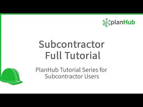 PlanHub (Construction Software) - Subcontractor Full Tutorial thumbnail