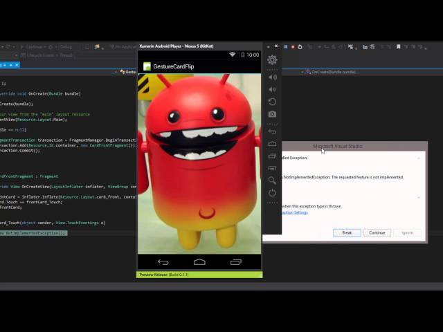 Xamarin Android Tutorial   28   Gestures In Android