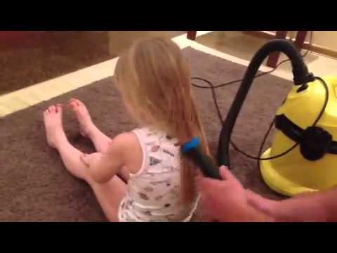 Как быстро сделать хвостик дочке.Советы для мужчин ))))))