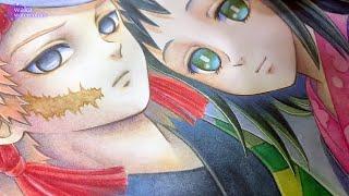 鬼滅の刃 錆兎と真菰 / Demon Slayer : Kimetsu no Yaiba Sabito & Makomo / Watercolor Painting/アナログ水彩イラストメイキング