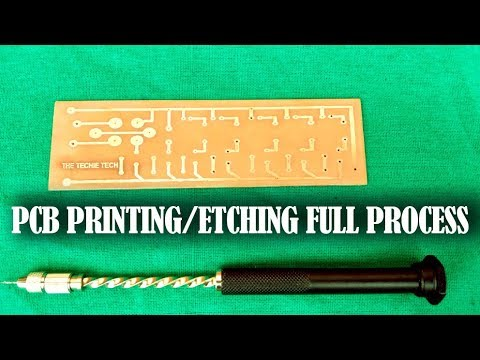 How to print pcb easily at home || Etching a PCB full process