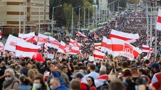 Беларусь. Марш освобождения политзаключенных | 04.10.20