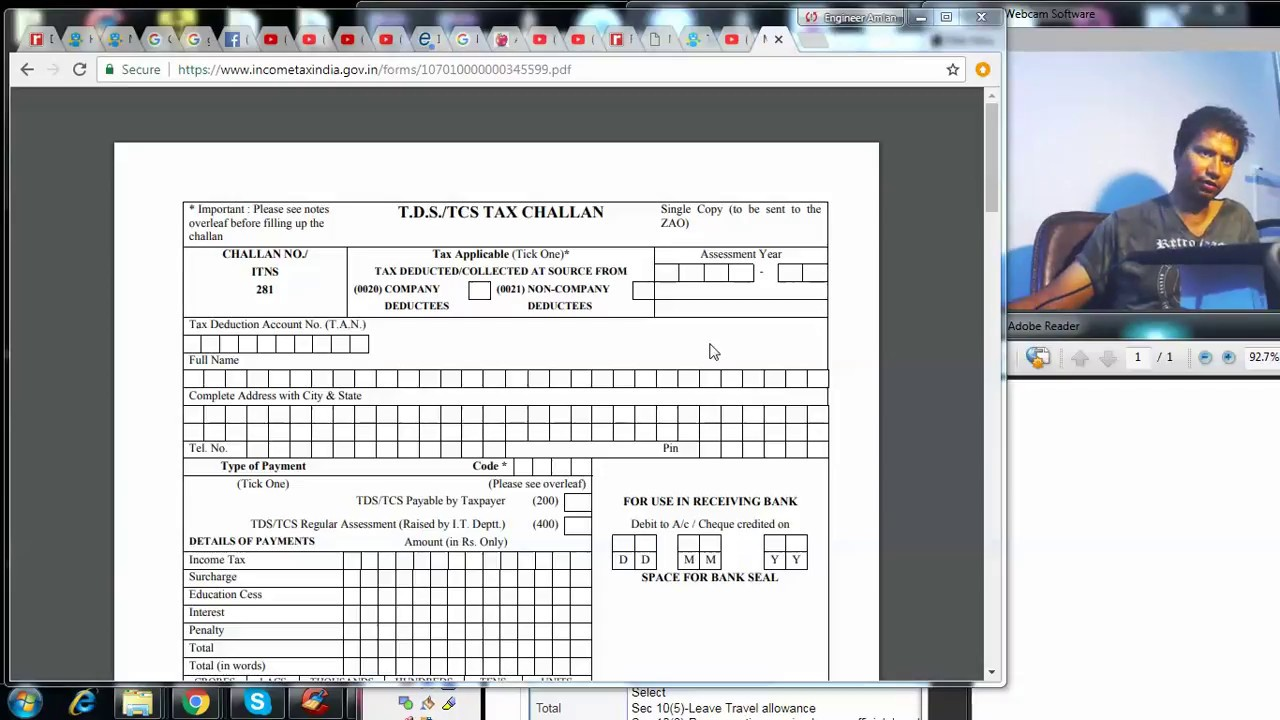 How to make TDS payment for contract payment |Challan 281|Section 194 C