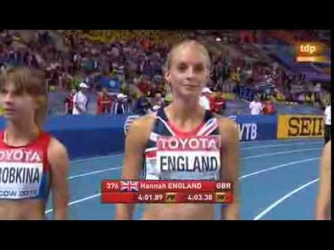 1500 m women final IAAF World athletics Championships Moscow 2013