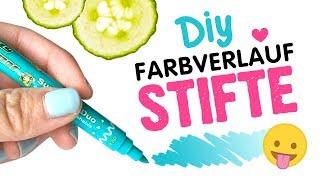 DIY Ombre Stift 😱 Einfacher Hack 🖍 Bunte Farbverlauf Filzstifte 🌈 Tipps+Anleitung Papier Basteln