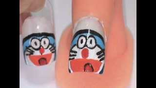 Nail Art 031 - by ATC (1-Apr-2012) Doraemon Nails
