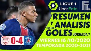 Resumen de la LIGA FRANCESA (2020) NIMES vs PSG (0-4) GOLES [Ligue 1 Jornada 7] 🏆 Futbol EUROPEO ⚽️🔥