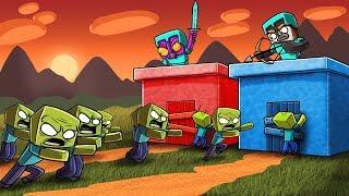 Minecraft | ZOMBIE BASE DEFENSE CHALLENGE!