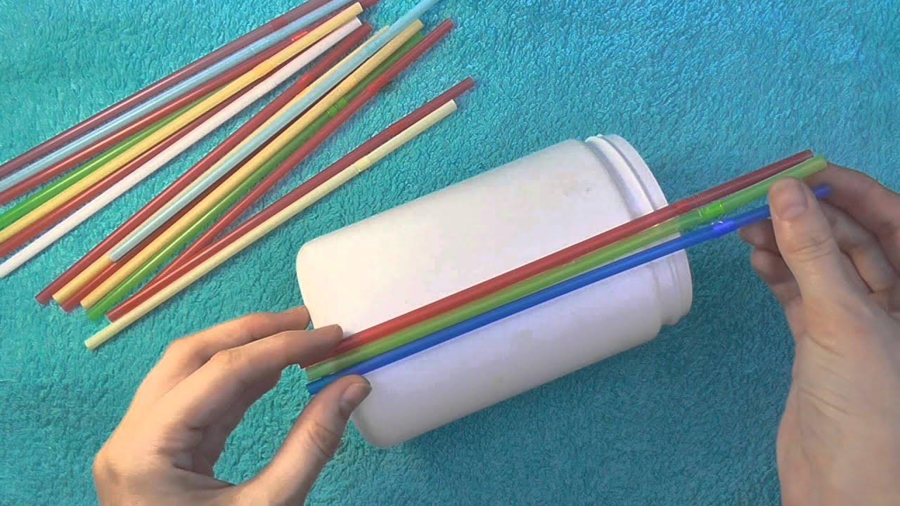 Плетение из трубочек для коктейлей