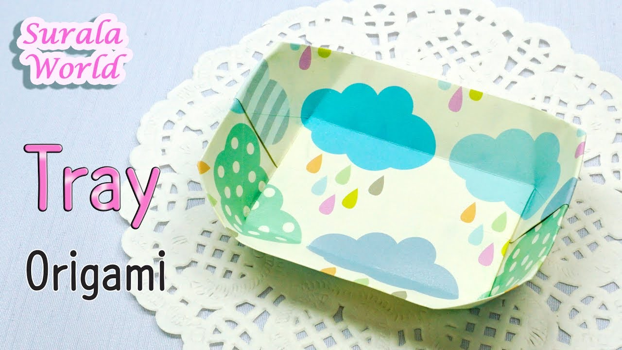 origami tray container dish youtube