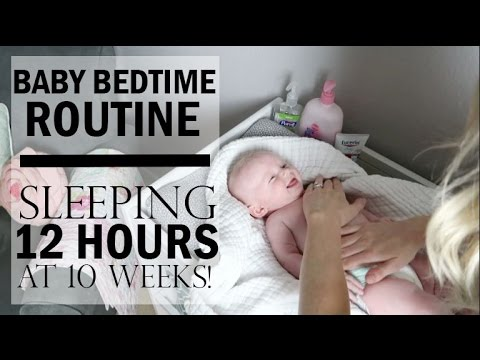 Bedtime Routine For Baby 2017 Sleeping Through The Night Nighttime Routine