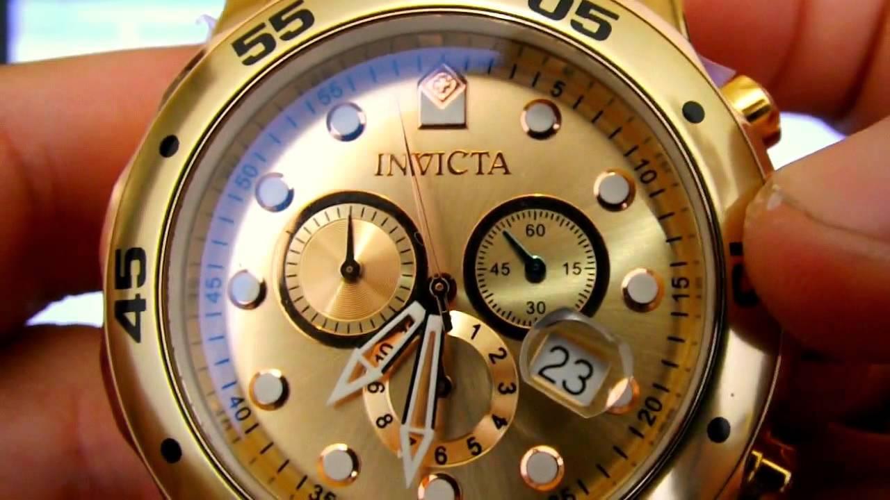 c12db8895dc Relógio Invicta 0074 Ouro 18k Pro Drive Original - YouTube