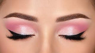 QUICK & EASY Pink Smokey Eye Makeup Tutorial