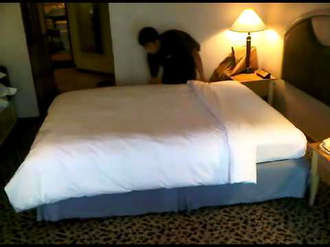 Bed Making Process Youtube