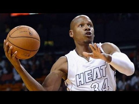 reputable site 95e0f 8d6cc NBA 2K13 - Ray Allen Practicing In The Miami Heat White Hot Jersey