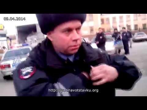 Видео: Кемеровчане блокировали экипаж ГИБДД чтобы освободить девушку