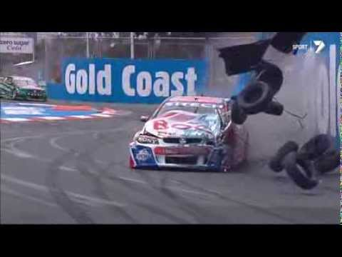 Andrew Jones Gold Coast 600 Massive Crash - V8 Supercars 2013