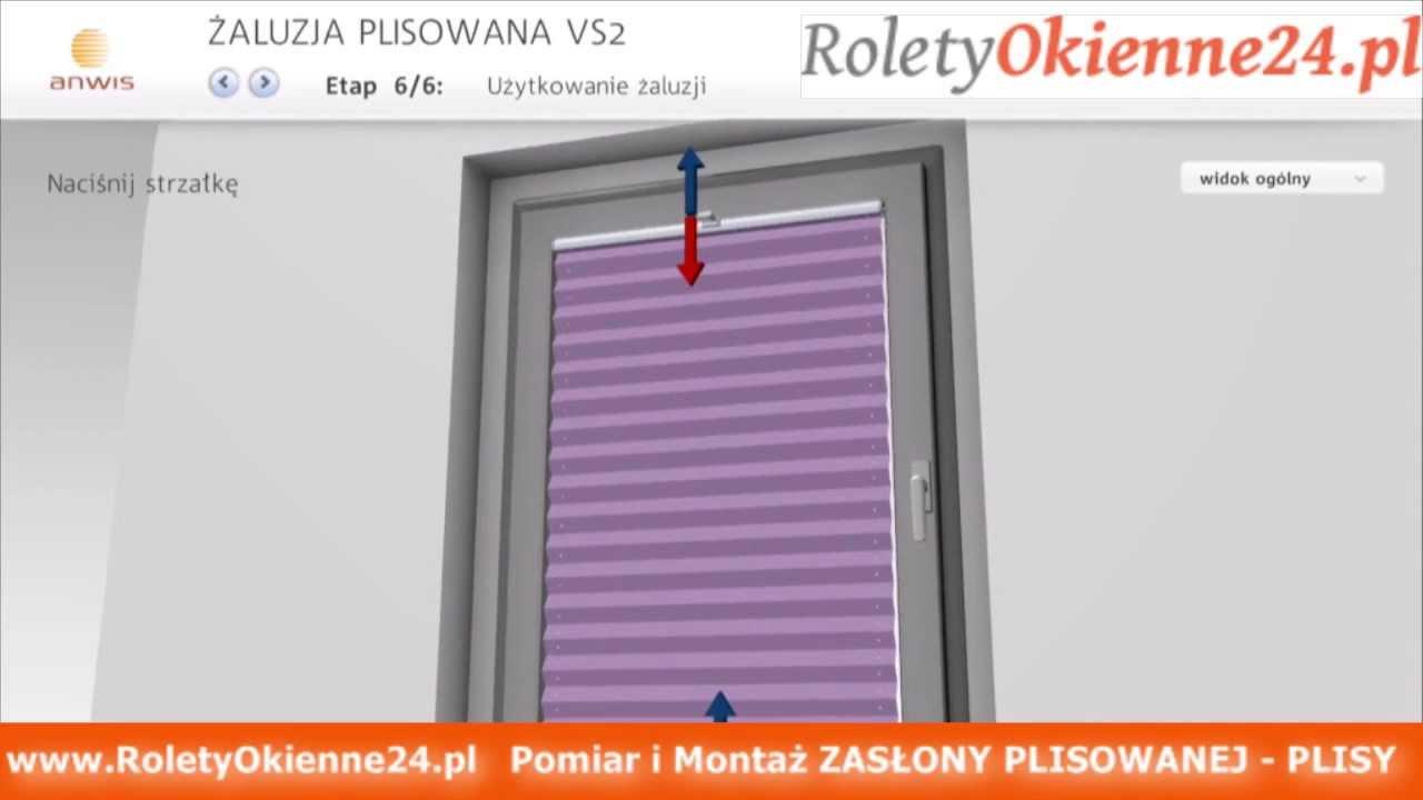 Niesamowite PLISA Zasłona Plisowana Pomiar i Montaż Plisy RoletyOkienne24 pl WX68