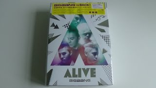 Unboxing BIGBANG 4th Japanese Studio Album ALIVE [Type E HMV/Lawson Limited Edition]
