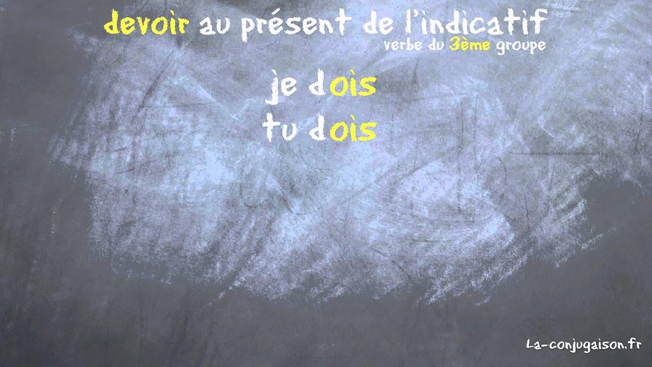 Devoir Au Present De L Indicatif La Conjugaison Fr Youtube