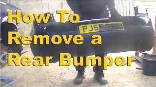 VW Golf MK5 Rear Bumper & Rear Light Removal