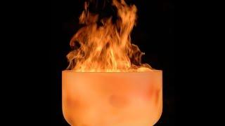 Glasfeuerschale Vesuv von muenkel design [Kristallfeuerschale, Feuerkorb, Gartenfeuer]