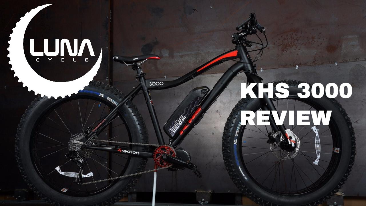 BBSHD Luna KHS 3000 Fat Bike Ebike Review - YouTube