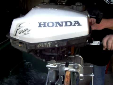Honda 2hp outboard engine 4 stroke bf2a 39 97 youtube for Honda outboard motors for sale used