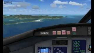 FSX Mission: CRJ-700 landing @ St.Maarten [GERMAN]