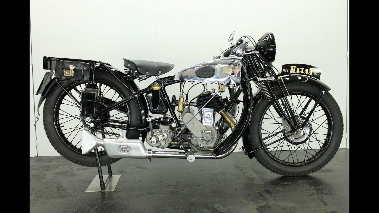 Terrot HST 1930 350cc 1 cyl sv vintage motorcycle - start ...